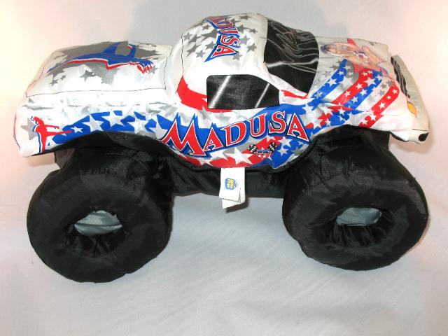 Madusa Monster Jam Auto Signed Plush Puff White Monster Truck 2002 2007 Ebay
