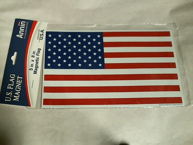 "Annin U.S. Maganetic Flag Decoration - Measures 5""x8"" -  Made in USA - cars"