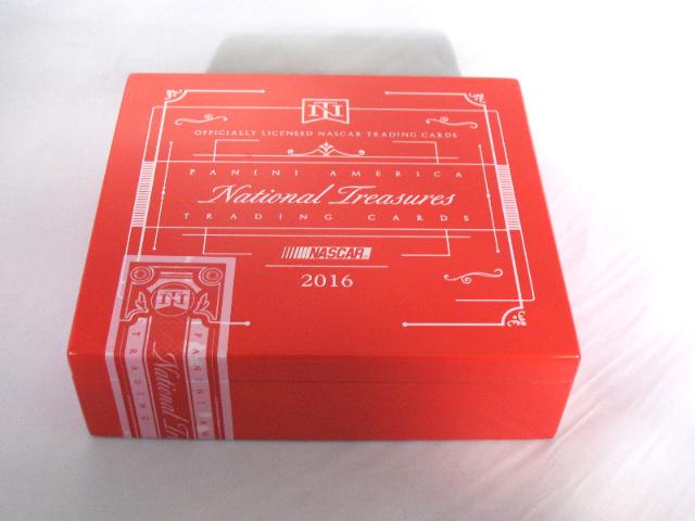 2016 Panini National Treasures NT NASCAR Trading Cards Empty Cedar Cigar Box
