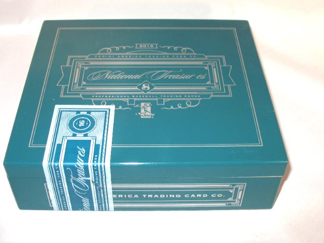 2016 Panini National Treasures NT Baseball Trading Cards Empty Cedar Cigar Box