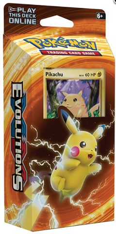 Pokemon TCG XY Evolutions Theme Deck: Pikachu Power (Sealed) + 2 Booster Packs