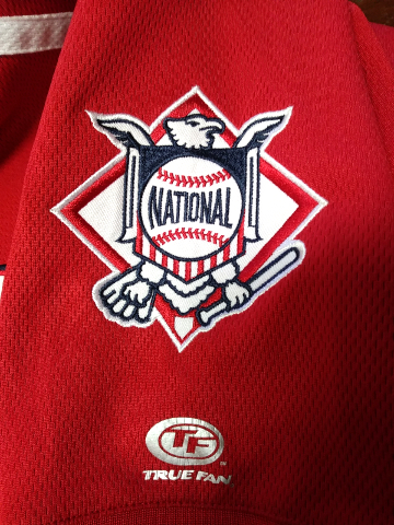 c4fd91dfbbf True Fan Washington Nationals Red Embroidered Jersey Shirt Size M MLB  Baseball