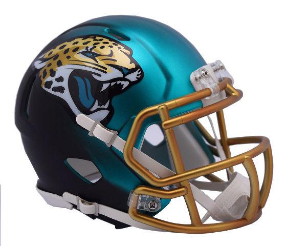JACKSONVILLE JAGUARS 2017 Riddell NFL Blaze Alternate Speed Mini Football Helmet