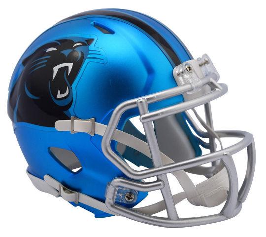 CAROLINA PANTHERS 2017 Riddell NFL Blaze Alternate Speed Mini Football Helmet