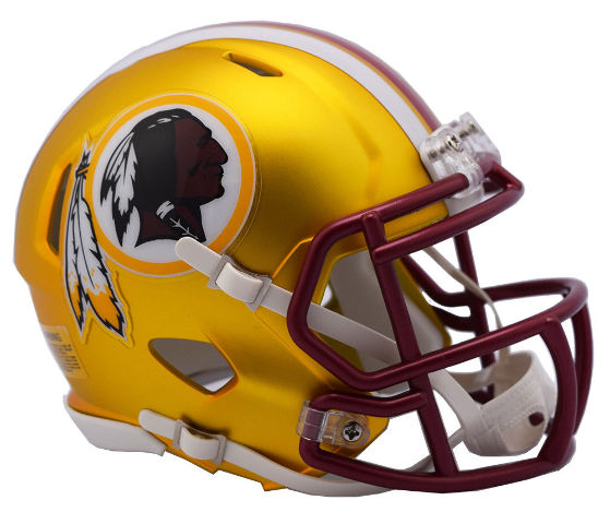 WASHINGTON REDSKINS 2017 Riddell NFL Blaze Alternate Speed Mini Football Helmet