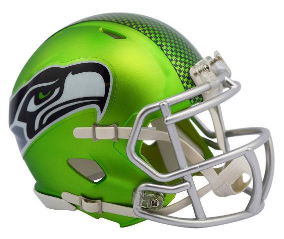 SEATTLE SEAHAWKS 2017 Riddell NFL Blaze Alternate Speed Mini Football Helmet
