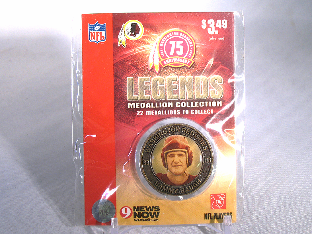 SAMMY BAUGH Washington Redskins Legends 2007 Collectible Medallion Coin