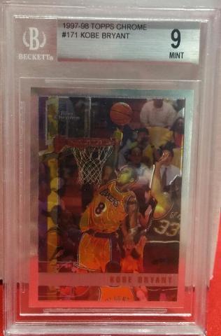 KOBE BRYANT 1997-98 Topps Chrome #171 Graded BGS 9 Lakers