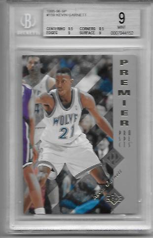 KEVIN GARNETT 1995-96 Upper Deck SP Premier Prospects #159 BGS 9 Timberwolves