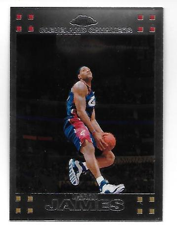 LEBRON JAMES 2007-08 Topps Chrome #23 Cleveland Cavaliers Dunk