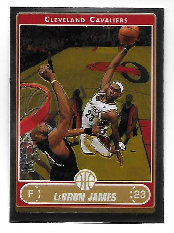 LEBRON JAMES 2006-07 Topps Chrome #67 Cleveland Cavaliers Dunk