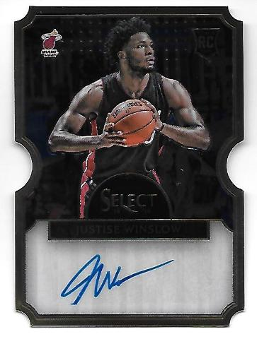 JUSTISE WINSLOW 2015-16 Panini Select Die-cut RC auto /60 Miami Heat