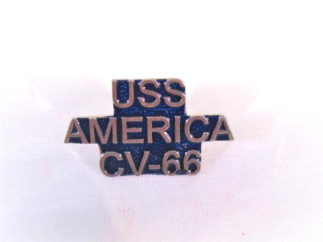 USS America CV-66 Ship Name Lapel Pin