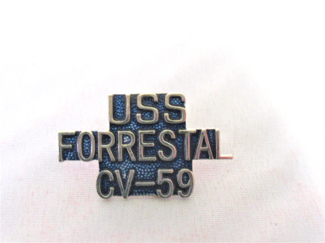 USS Forrestal  CV-59 Ship Name Lapel Pin
