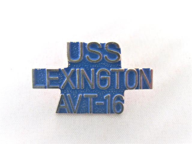 USS Lexington AVT-16 Ship Name Lapel Pin