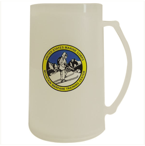 Vanguard MARINE CORPS PLASTIC 16 OZ MUG W/MOUNTAIN WARFARE TRAINING CENTER LOGO