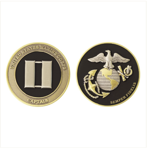 Vanguard MARINE CORPS COIN: CAPTAIN 1.75""