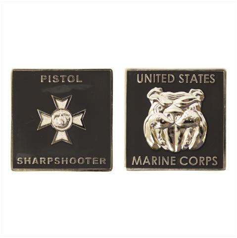 "Vanguard MARINE CORPS COIN: PISTOL SHARPSHOOTER 1.75"""