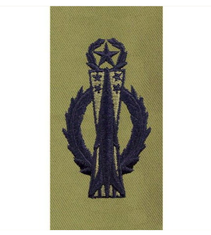 Vanguard AIR FORCE EMBROIDERED BADGE: MISSILE OPERATOR: MASTER - ABU