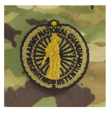 Vanguard ARMY IDENTIFICATION OCP SENIOR ARMY NAT'L GUARD RECRUITING & RETENTION