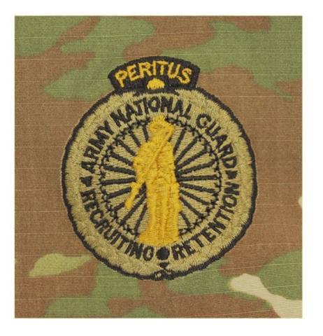 Vanguard ARMY IDENTIFICATION OCP EXPERT ARMY NAT'L GUARD RECRUITING & RETENTION