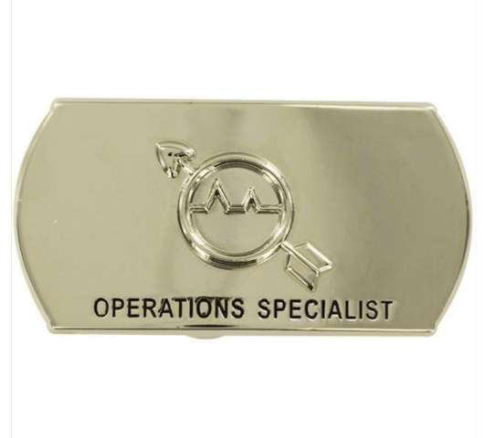 vanguard navy enlisted specialty belt buckle operations specialist os
