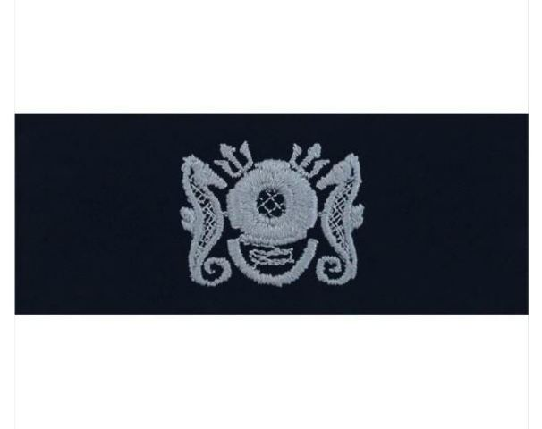 (PAIR) Vanguard Embroidered Enlisted Master Diver Badge - Coverall (Navy)