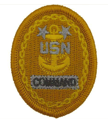 Vanguard NAVY EMBROIDERED BADGE: E9 COMMAND - EMBROIDERED ON COVERALL