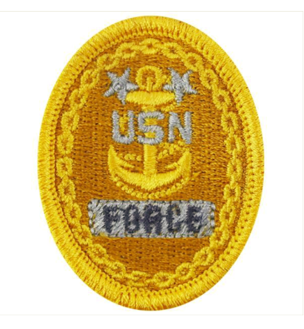 Vanguard NAVY EMBROIDERED BADGE: E9 FORCE - EMBROIDERED ON COVERALL