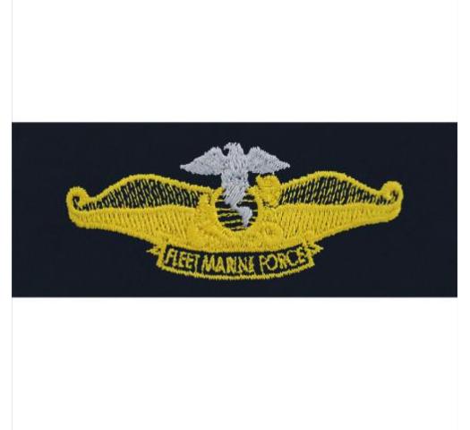 Vanguard Navy Fleet Marine Force Badge Embroidered Chaplin Badge