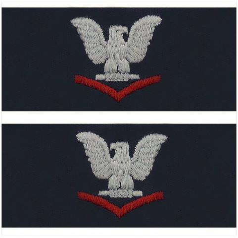 Vanguard NAVY EMBROIDERED COLLAR DEVICE: E4 THIRD CLASS - COVERALL