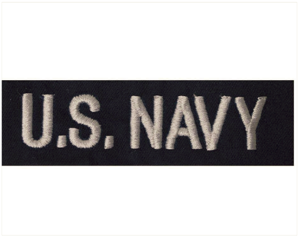 Vanguard NAVY TAPE: U.S. NAVY ENLISTED - SILVER ON COVERALL