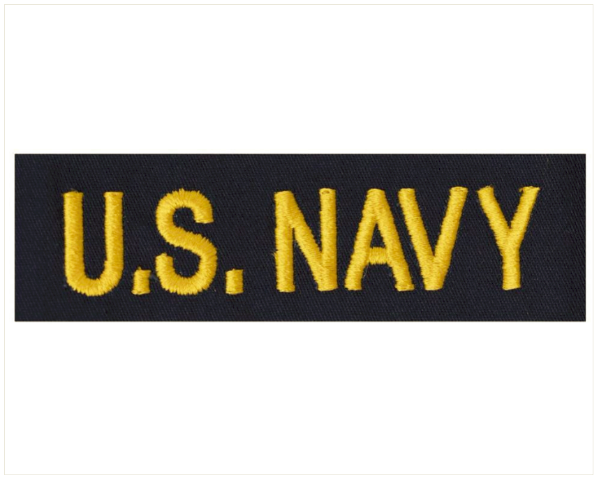 Vanguard NAVY TAPE: U.S. NAVY OFFICER - GOLD ON COVERALL