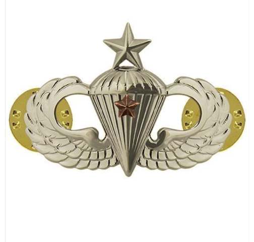 Vanguard ARMY BADGE: SENIOR COMBAT PARACHUTE FIRST AWARD - MIRROR FINISH