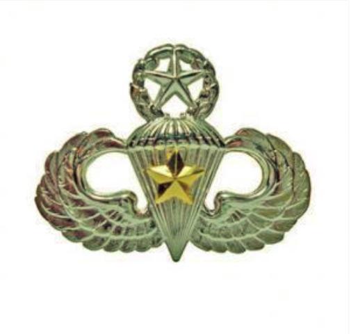 Vanguard ARMY BADGE: MASTER COMBAT PARACHUTE FIFTH AWARD