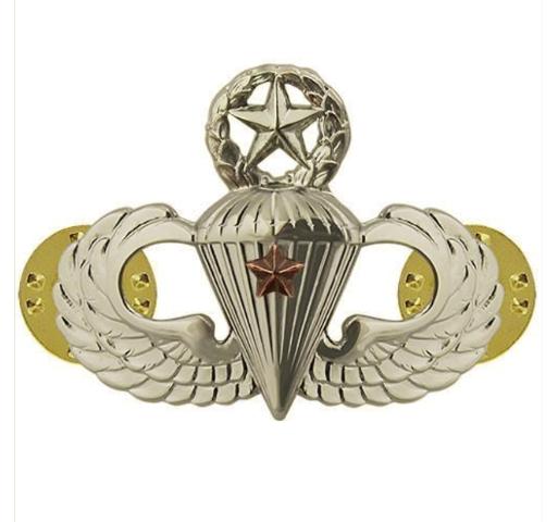 Vanguard ARMY BADGE: MASTER COMBAT PARACHUTE FIRST AWARD - MIRROR FINISH