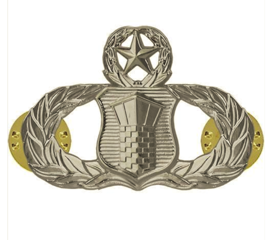 Vanguard AIR FORCE BADGE: AIR TRAFFIC CONTROL: MASTER - MIDSIZE