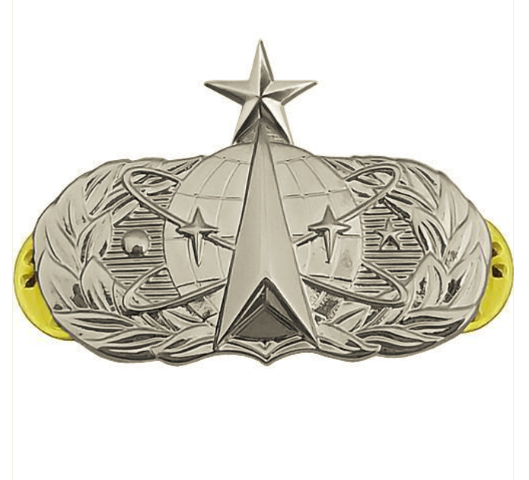 Vanguard AIR FORCE BADGE: SPACE OPERATIONS: SENIOR - MIDSIZE