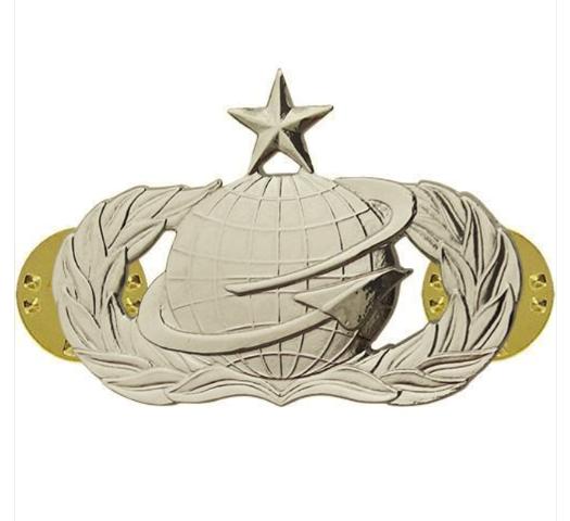 Vanguard AIR FORCE BADGE: MANPOWER: SENIOR - MIDSIZE