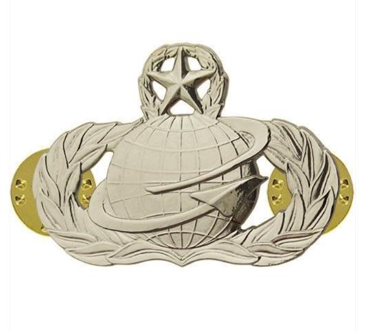 Vanguard AIR FORCE BADGE: MANPOWER: MASTER - MIDSIZE
