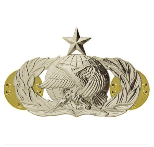 Vanguard AIR FORCE BADGE: SUPPLY FUELS: SENIOR - MIDSIZE