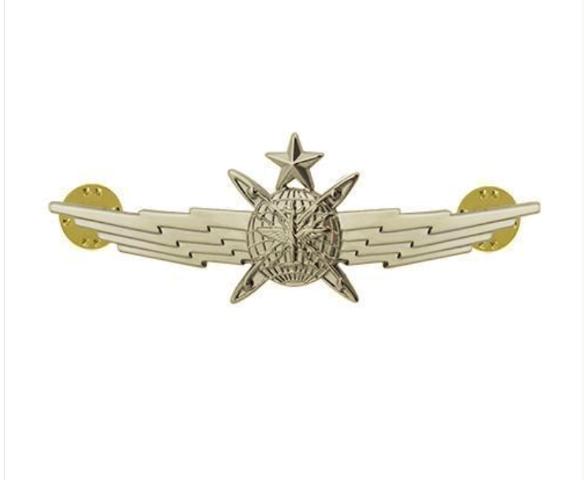 Vanguard AIR FORCE BADGE: CYBERSPACE OPERATOR: SENIOR - MINIATURE