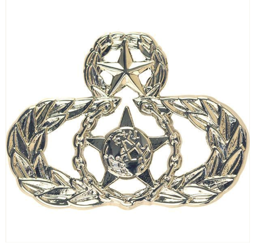 Vanguard AIR FORCE BADGE: MASTER SAFETY - MIDSIZE MIRROR FINISH