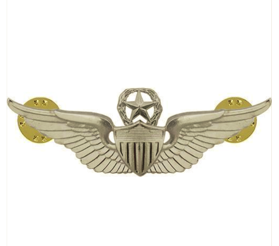 Vanguard ARMY BADGE: MASTER AVIATOR - REGULATION SIZE, MIRROR FINISH