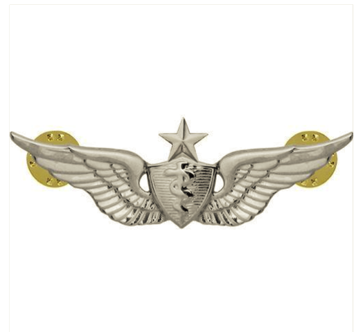 Vanguard ARMY BADGE: SENIOR FLIGHT SURGEON - REGULATION SIZE, MIRROR FINISH