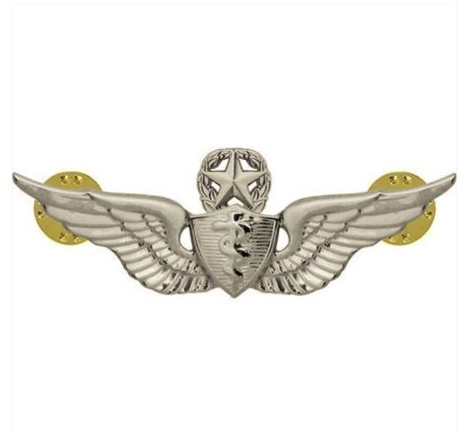 Vanguard ARMY BADGE: MASTER FLIGHT SURGEON - REGULATION SIZE, MIRROR FINISH