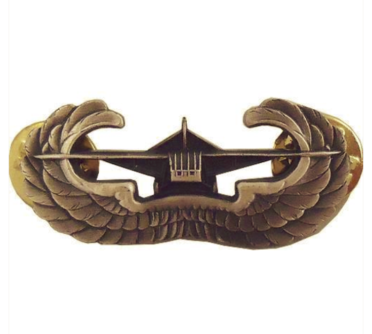 Vanguard ARMY BADGE: AIRBORNE GLIDER - SILVER OXIDIZED FINISH