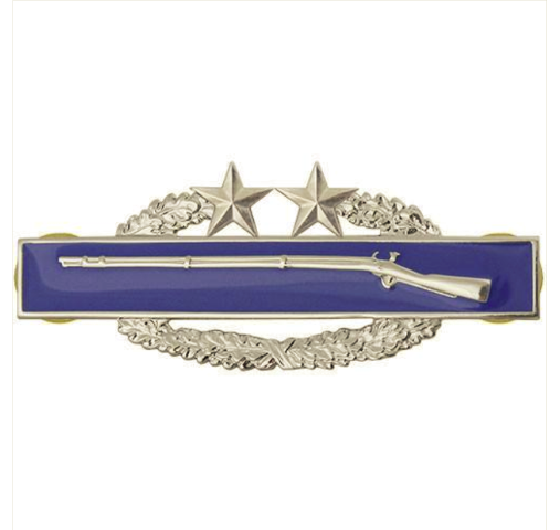 Vanguard ARMY BADGE: COMBAT INFANTRY THIRD AWARD - MIRROR FINISH