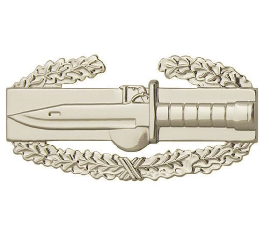 Vanguard ARMY BADGE: COMBAT ACTION FIRST AWARD - REGULATION SIZE, MIRROR FINISH