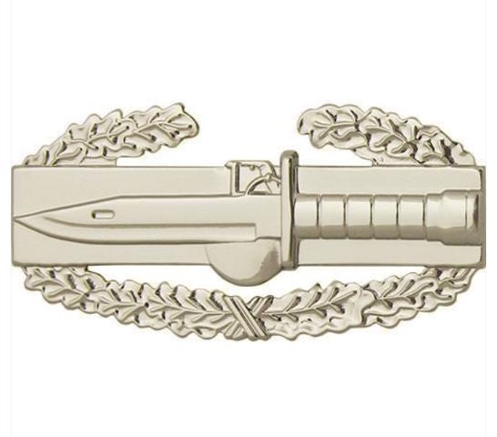 Vanguard ARMY BADGE: COMBAT ACTION FIRST AWARD - REGULATION SIZE, MIRROR FINISH